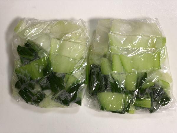 チンゲン菜の保存